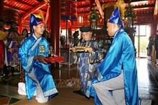 Lễ rước Long vị vua Hàm Nghi về Di tích Quốc gia Thành Tân Sở