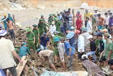 Vụ sạt lở tại Nam Trà My - Quảng Nam: Tiếp tục tìm kiếm các nạn nhân còn mất tích