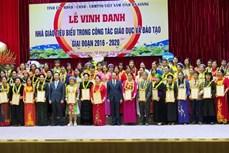 Hà Giang tôn vinh các nhà giáo tiêu biểu giai đoạn 2016 - 2020