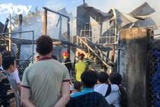 Chập điện, lửa thiêu rụi căn nhà sàn ở Điện Biên