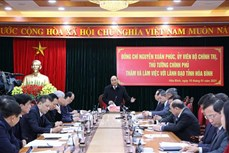 Thủ tướng Nguyễn Xuân Phúc: Hòa Bình cần khai thác tốt hơn nữa tiềm năng vị trí giáp ranh với Thủ đô Hà Nội trong phát triển
