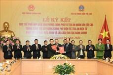Phối hợp xây dựng Chính phủ điện tử, Tòa án điện tử và cải cách thủ tục hành chính