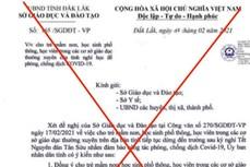 Đắk Lắk: Khẩn trương xác minh đối tượng giả mạo văn bản cho học sinh nghỉ học