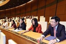 Kỳ họp thứ 11, Quốc hội khóa XIV: Trình Quốc hội phê chuẩn việc bổ nhiệm 2 Phó Thủ tướng và 12 bộ trưởng, trưởng ngành