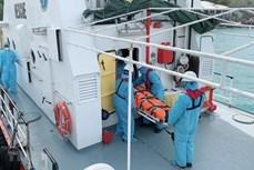 庆和省:及时将四名在海上受重伤的外国船员送上岸接受治疗
