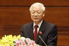越共中央总书记、国家主席阮富仲向法国共产党全国委员会致贺电