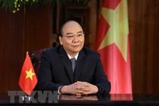 越南政府总理阮春福向气候适应峰会发表致辞