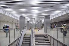 滨城——仙泉地铁线巴山地下车站B1层完工