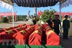 广治省为24具在老挝牺牲的越南烈士遗骸举行追悼会和安葬仪式