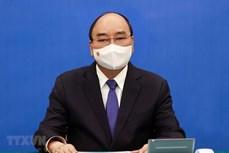 越南国家主席阮春福与日本首相菅义伟通电话