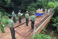 得农省向柬埔寨蒙多基里省公安力量赠送防疫物资