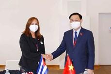 国会主席王廷惠会见古巴古巴全国人民政权代表大会副主席