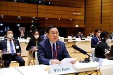 越南国会主席王廷惠出席第五次世界议长大会开幕式