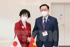 越南国会主席王廷惠会见日本参议院议长