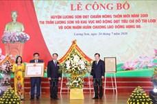Phó Thủ tướng Trịnh Đình Dũng dự Lễ công bố huyện Lương Sơn, Hòa Bình, đạt chuẩn nông thôn mới