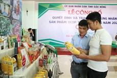 Đắk Nông công nhận 22 sản phẩm nông nghiệp đầu tiên đạt tiêu chuẩn OCOP