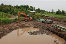 Sóc Trăng: Triều cường dâng cao bất ngờ gây nhiều thiệt hại tại huyện đảo Cù Lao Dung