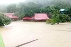Cảnh sát giao thông khuyến cáo người dân không đi qua các tuyến đường ngập sâu tại Quảng Bình và Hà Tĩnh