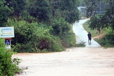 Bão số 9: Năm xã của huyện Tu Mơ Rông (Kon Tum) bị cô lập do ảnh hưởng của mưa bão