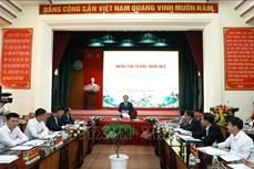 Bí thư Thành ủy Hà Nội Vương Đình Huệ: Sử dụng hiệu quả các nguồn lực, tạo bước đột phá, sớm đưa thị xã Sơn Tây thành đô thị loại 2