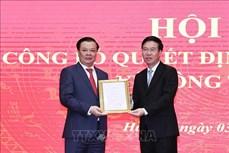Công bố quyết định của Bộ Chính trị phân công đồng chí Đinh Tiến Dũng làm Bí thư Thành ủy Hà Nội