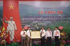 Tân Thịnh là xã đầu tiên của huyện vùng cao Văn Chấn đạt chuẩn nông thôn mới nâng cao