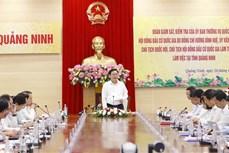 Chủ tịch Quốc hội Vương Đình Huệ kiểm tra công tác bầu cử tại Quảng Ninh