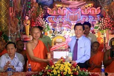 Đồng bào Khmer ở Vĩnh Long vui Tết Chôl Chnăm Thmây sung túc, an toàn