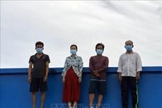 Dịch COVID-19: Phát hiện 5 thuyền viên nhập cảnh trái phép trên vùng biển Kiên Giang