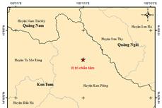 Động đất có độ lớn 3.9 xảy ra tại huyện Kon Plông