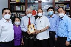 Chủ tịch nước thăm một số nhà báo, gia đình nhà báo lão thành nhân dịp Ngày báo chí Cách mạng Việt Nam