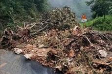 Lai Châu: Mưa lớn gây ách tắc giao thông trên quốc lộ 4D