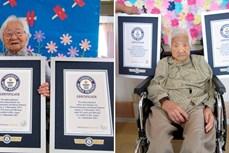 """Sách Kỷ lục Guinness ghi danh cặp song sinh cao tuổi nhất thế giới từ """"xứ hoa anh đào"""""""
