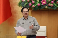 Thủ tướng Chính phủ Phạm Minh Chính chỉ đạo tiếp tục thực hiện nghiêm, hiệu quả các biện pháp phòng, chống dịch COVID-19