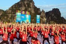 越南举行千人瑜伽活动 响应国际瑜伽日