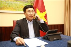 越德两国外交部长通电话