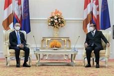 柬埔寨首相洪森会见越南驻柬大使武光明