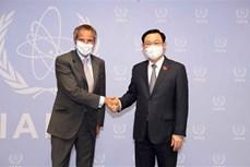 国会主席王廷惠会见国际原子能机构总干事格罗西