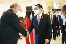 越南国会主席王廷惠抵达奥地利