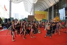Trình diễn nghệ thuật trước Lễ khai mạc Đại hội Đại biểu toàn quốc các dân tộc thiểu số Việt Nam lần thứ II