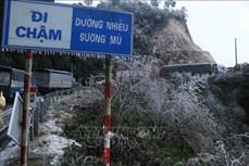 Lai Châu: Đường đóng băng khiến các phương tiện không thể di chuyển qua khu vực đèo Ô Quý Hồ