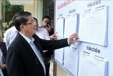 Phó Chủ tịch Quốc hội Nguyễn Đức Hải kiểm tra công tác chuẩn bị bầu cử tại tỉnh Lào Cai