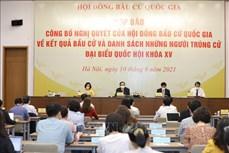Công bố 499 người trúng cử đại biểu Quốc hội khóa XV