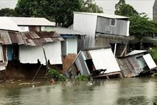 Sạt lở rạch Cái Sao, 15 hộ dân phải di dời khẩn cấp
