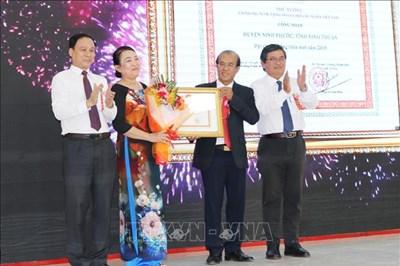Ninh Phước là huyện đầu tiên ở Ninh Thuận được công nhận đạt chuẩn nông thôn mới
