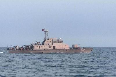 越柬海军进行海上联合巡逻