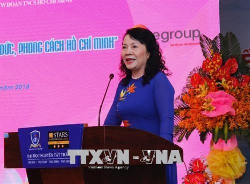 "Trao giai cuoc thi ""Tuoi tre hoc tap va lam theo tu tuong, dao duc, phong cach Ho Chi Minh"" lan thu 4 - nam 2018 hinh anh 1"