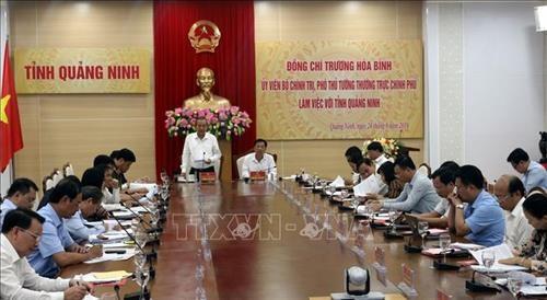 Pho Thu tuong Thuong truc Chinh phu Truong Hoa Binh lam viec tai tinh Quang Ninh hinh anh 1