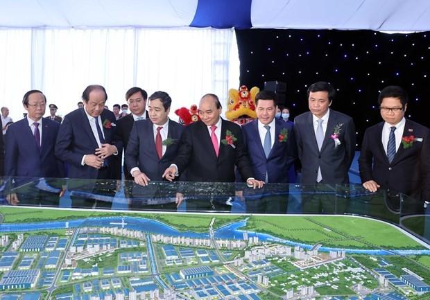 越南政府总理阮春福出席太平省经济区首个重要项目的开工仪式 hinh anh 2