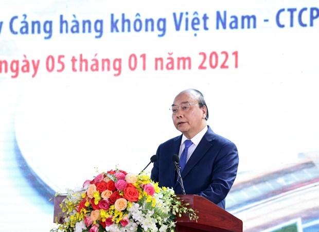 阮春福:隆城机场将为一个发展壮大的越南作出贡献 hinh anh 2